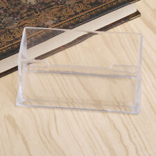 Desktop Business Card Holder Display Stand Plastic Desk Shelf Office Supplies