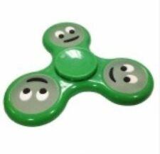 Hand Fidget Spinner Luminous Emoji Spinners Toys-Smiling - GREEN