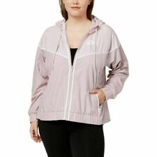 $100 Nike Womens Plus Windrunner Fitness Workout Athletic Jacket 3X Pink AH2858