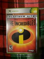 Incredibles (Microsoft Xbox, 2004) With Manual CLEAN TESTED AND WORKING