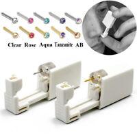 Disposable Sterile Nose Ring Stud Piercing Gun Unit Piercing Tool Nose Piercer