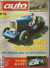 AUTO PASSION 14 S3 4CV SPECIALE SALMSON 2300 S 54 CITROEN ROSALIE 1933 GLADIATOR