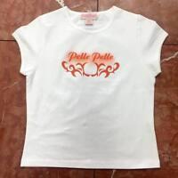 Women's Fashion Pelle Pelle White | Orange Tee Shirt