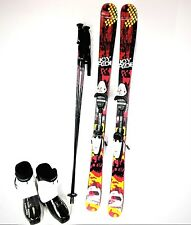 TWIN TIP SKI PACKAGE, FITTED READY TO SKI, WITH HEAD BOOTS, BINDINGS, FITTED