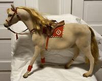 Steha Large Flocked Stallion Toy Model With Saddle And Bridle Damaged