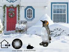 LED Weihnachten Pinguin Schnee Deko Acryl Plug in Outdoor Garten Xmas Lichter