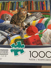 """Buffalo Games-Hautman Brothers Collection """"LIBRARY KITTIES""""-1000 Piece Puzzle"""