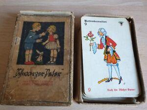 antikes Schwarzer Peter Spiel von Lisbeth Hönigsmann um 1925 , vollständig