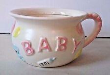 Vintage new baby nursery planter Nancy Pew Giftwares Japan chamber pot sticker