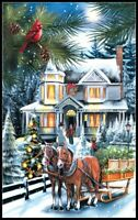 Here comes the Tree - Chart Counted Cross Stitch Patterns Xstitch DIY DMC