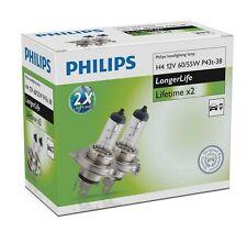 PHILIPS 12342ELC2 H4 12V 60/55W P43t LongerLife 2 Stück Lifetime x2 Halogen