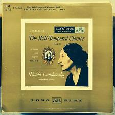 WANDA LANDOWSKA bach well tempered clavier book 2 VG+ LM-1152 USA Mono LP