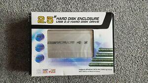 1TB USB / SATA HARD DISK, USED WD BLUE DRIVE & NEW ALUMINIUM ENCLOSURE
