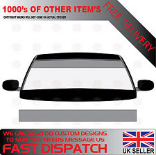 GLOSS SILVER WINDSCREEN SUNSTRIP 1800mm x 190mm VAN DECALS GRAPHICS STICKERS