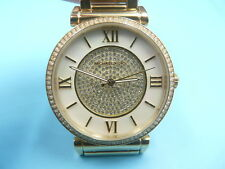 New Old Stock MICHEAL KORS 38mm Gold Plated MK3332 Quartz Unisex Watch