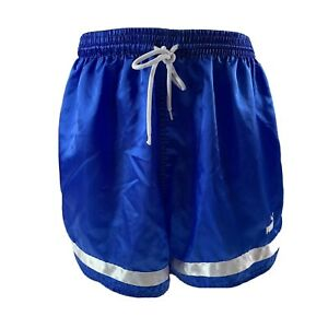Puma Soccer Shorts Youth Size S Blue with White Stripe Futbol Vintage 90's