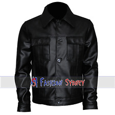 Men's Fashion Elvis Presley Black Real Leather Jacket | All Size Available