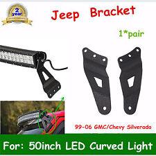"Fit 99-06 GMC Sierra/Chevy Silverado XM Mount Bracket 50""IN Curved LED Light OFF"