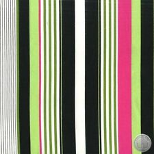 Michael Miller Starboard Stripe Black 100% Cotton Fabric By The Yard