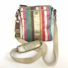 Coach Julia Legacy Stripe Crossbody Swingpack Handbag Bag Purse Multicolor 46801