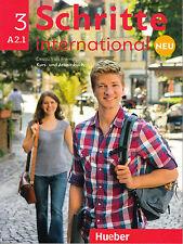 Hueber SCHRITTE INTERNATIONAL NEU 3 Kursbuch + Arbeitsbuch A2.1 mit CD @NEW@