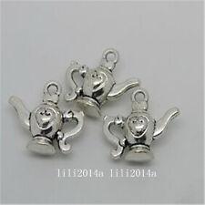 6pc Tibetan Silver teapot Charm Beads Pendant Findings wholesale  PL1014