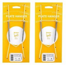 """2 x 5.5"""" X 7.5"""" Plate Wall Display Hanger Holder Hanging Wire"""