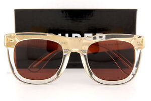 New SUPER by RETROSUPERFUTURE sunglasses Ciccio 894 Crystal/Gold Lens by Zeiss