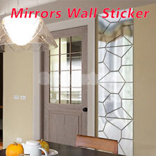 7Pcs 3D Mirror DIY Sticker Home Wall Ceiling Room Decor Mural Decal Stick On