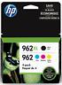 HP 962XL High Yield Black And HP 962 Cyan/Magenta/Yellow Ink Cartridges New 100%