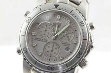 SECTOR ALARM CHRONO MEN'S WATCH Quart Chronograph Steel New Timepiece DEFECTIVE