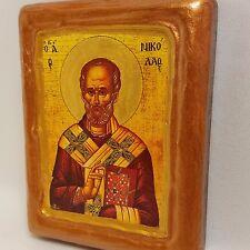 Saint Nicholas Agios Nikolas Greek Byzantine Eastern Orthodox Church Icon Art