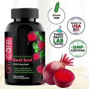 Beet Root Powder Capsules, Nitric Oxide Booster, Energy, Stamina, Performance