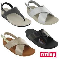 Fitflop Slip On Summer Sandals Wedge Open Toe Comfort Lightweight Ladies