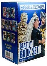 Horrible Histories 10 Beastly Books Blue Set FREEPOST UK
