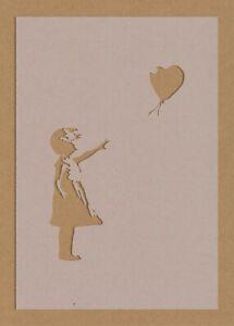 Banksy Girl With Balloon Stencil Street Art Graffiti A6 A5 A4 A3