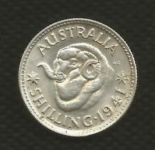 1941 SHILLING - GEORGE VI - UNCIRCULATED CONDITION - FULL MINT BLOOM