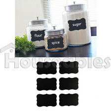 36pcs Chalkboard Blackboard Chalk Board Stickers Craft Kitchen Jar Labels