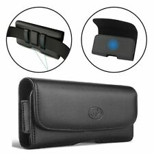 Belt Clip Loop leather Case pouch Phone Holder To Fit Motorola Moto G7 Plus