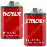 2x EVEREADY 4R25 6V Battery 6 Volt 996 PJ996 430 908 908S Lantern 4R25X 4R25RZ