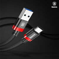 Baseus 3A USB TYPE-C QC3.0 Fast Quick Charger Cable Cord For Samsung Note 10 S10