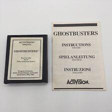 Atari 2600 Ghostbusters (1985) Video Game Cartridge + Game Manual