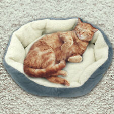 Soft Plush Cat Nesting Bed Pet Calming Bed Dog Cushion Basket for Kennel Crates