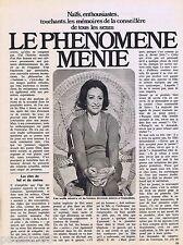 COUPURE DE PRESSE CLIPPING 1976 MENIE GREGOIRE   (2 pages)