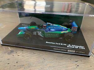 Minichamps 1/43 #116/125 Benetton Michael Schumacher B194 British GP 1994 ORACLE