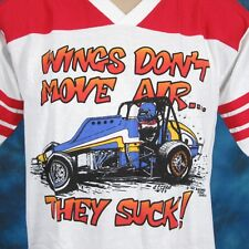 vtg 80s CALISTOGA NON-WING SPRINT CAR RACING JERSEY T-Shirt M/L world of outlaws