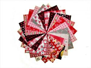 60 5 Inch Valentine Quilting Fabric Squares Charm Pack 15  Different Prints