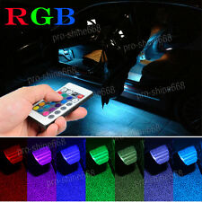 LED Interior FootWell Floor Seat Inside Glow Strip Light Under Dash Kit For Benz