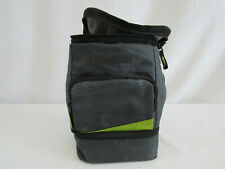 Artic Zone Black & Green 2 compartment Lunch Bag with Sandwich Container