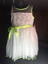 Cat & Jack Toddler Dress XS 4/5 White Flower  Girl Wedding Church Party
